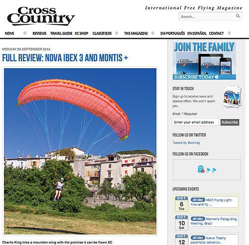 NOVA Performance Paragliders - IBEX 3