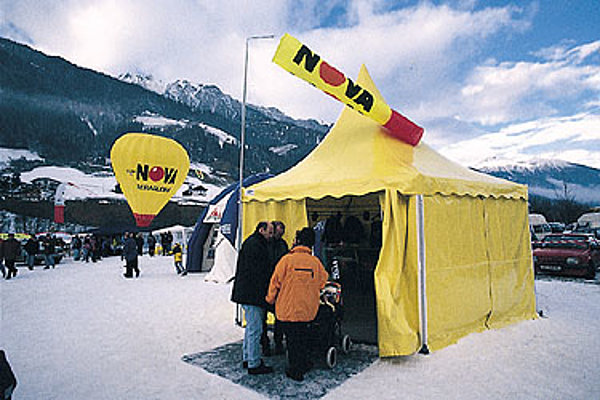 The NOVA marquee at the Stubai Cup.